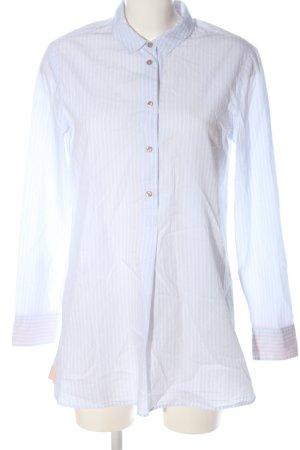 Cartoon Shirt Blouse white-blue allover print business style