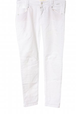 Cartoon Low Rise Jeans white casual look