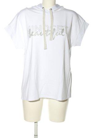 Cartoon Camicia con cappuccio bianco caratteri stampati stile casual