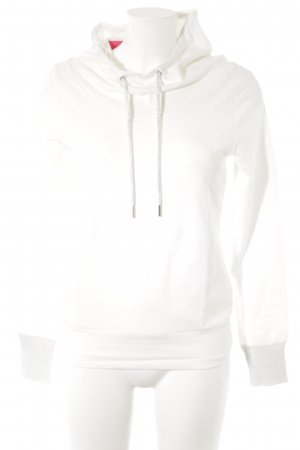Cartoon Hooded Sweatshirt natural white-silver-colored simple style