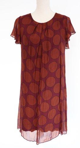 Cartoon Midi Dress brown