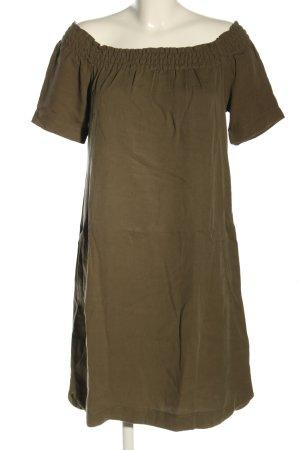 Cartoon Shortsleeve Dress brown casual look