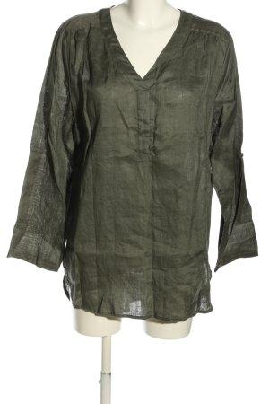 Cartoon Long Sleeve Blouse khaki casual look