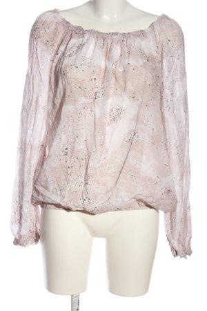 Cartoon Langarm-Bluse pink abstraktes Muster Casual-Look
