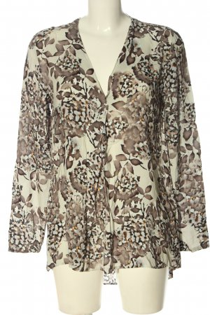 Cartoon Long Sleeve Blouse white-brown allover print casual look