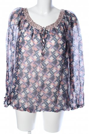 Cartoon Langarm-Bluse grafisches Muster Casual-Look