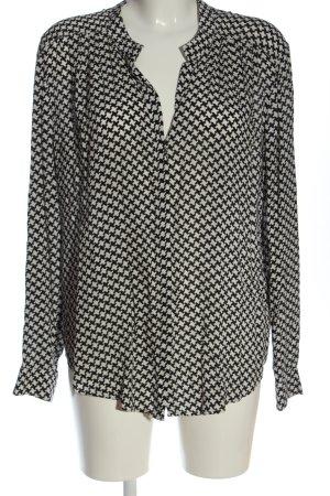 Cartoon Long Sleeve Shirt black-white abstract pattern casual look