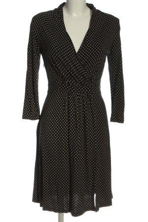 Cartoon Longsleeve Dress black-cream spot pattern elegant