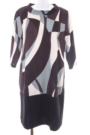 Cartoon Sukienka z długim rękawem Abstrakcyjny wzór W stylu biznesowym