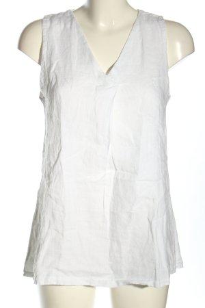 Cartoon Blusa in lino bianco stile casual