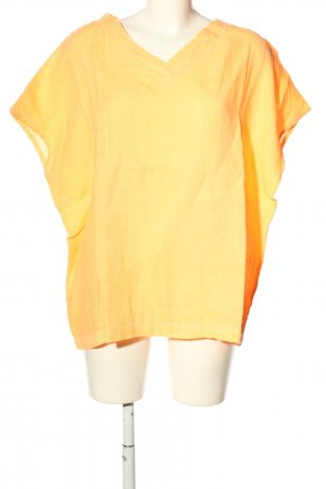 Cartoon Blusa de lino amarillo pálido look casual