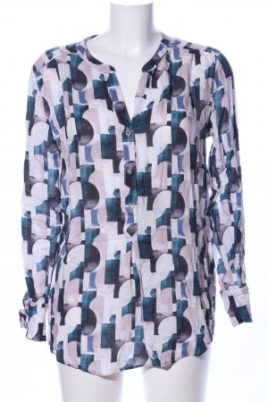 Cartoon Long-Bluse Allover-Druck Casual-Look