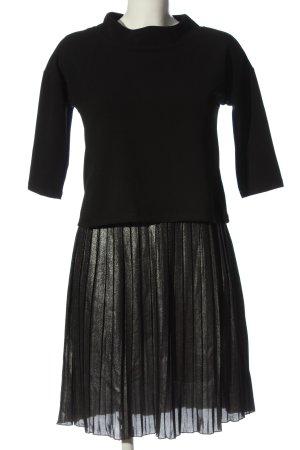 Cartoon Midi-jurk zwart-zilver casual uitstraling