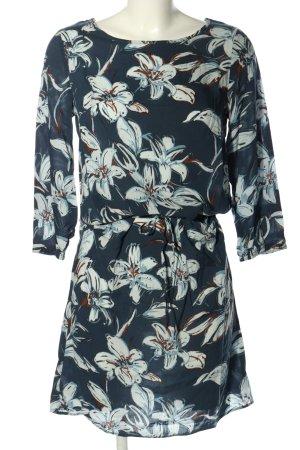 Cartoon Longsleeve Dress flower pattern casual look