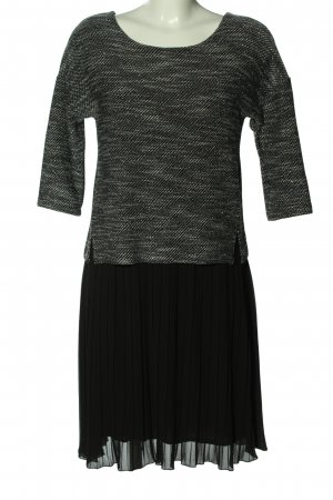 Cartoon Midi-jurk zwart-lichtgrijs gestippeld zakelijke stijl