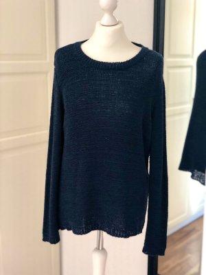 Cartoon Crewneck Sweater dark blue