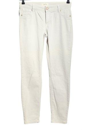 Cartoon Pantalone a sigaretta bianco stile casual
