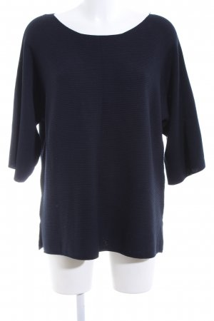 Cartoon Crewneck Sweater dark blue mixture fibre