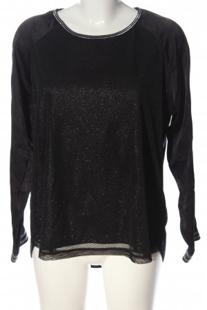 Cartoon Crewneck Sweater black flecked casual look