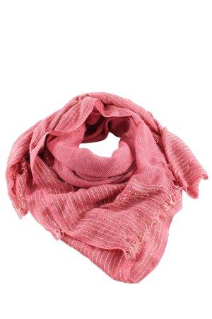 Cartoon Châle au tricot rose motif rayé style décontracté