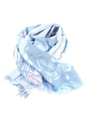 Cartoon Mantilla azul-blanco look casual
