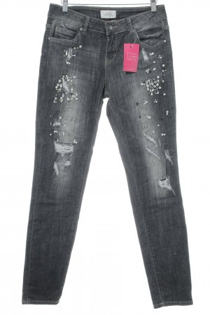 Cartoon Skinny Jeans anthrazit extravaganter Stil