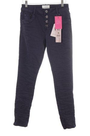Cartoon Skinny Jeans dark blue casual look
