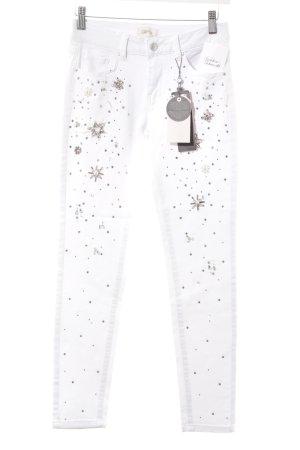 Cartoon Skinny Jeans weiß-silberfarben Casual-Look