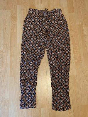 Cartoon Pantalone alla turca blu scuro-salmone