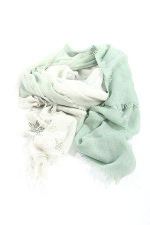 Cartoon Chal veraniego turquesa-blanco moteado look casual