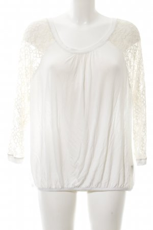 Cartoon Lace Blouse natural white elegant