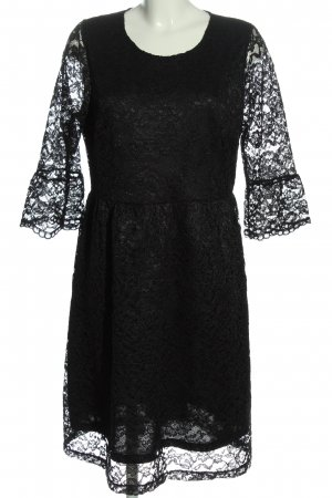 Cartoon Lace Dress black elegant