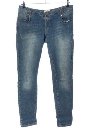 Cartoon Straight-Leg Jeans blau Casual-Look