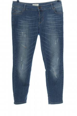 Cartoon Straight Leg Jeans blue casual look