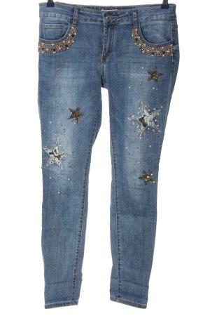 Cartoon Dopasowane jeansy niebieski W stylu casual