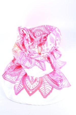 Cartoon Ręcznik plażowy biały-różowy Abstrakcyjny wzór W stylu casual