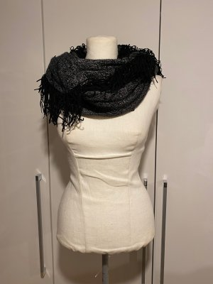 Cartoon Fringed Scarf black-silver-colored