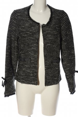 Cartoon Knitted Blazer black-white allover print casual look