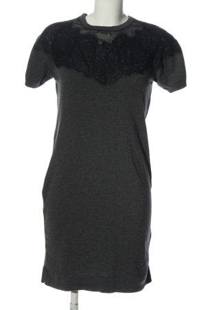 Cartoon Knitted Dress light grey-black flecked casual look