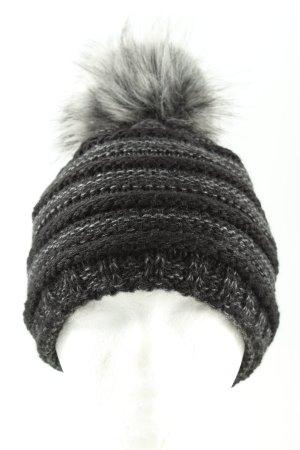 Cartoon Cappello a maglia nero-grigio chiaro puntinato stile casual