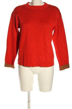 Cartoon Pull tricoté rouge style décontracté