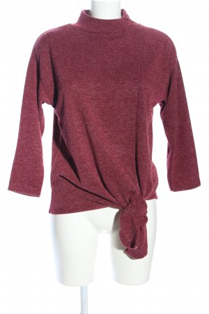 Cartoon Knitted Sweater red mixture fibre