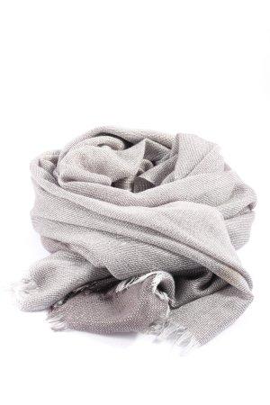 Cartoon Écharpe en tricot gris clair style décontracté