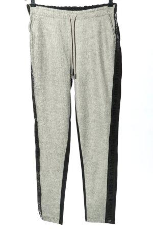 Cartoon Pantalon de jogging gris clair-noir style simple