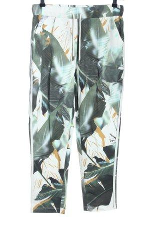 Cartoon Sweat Pants flower pattern casual look