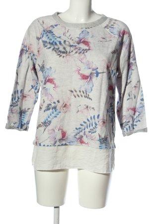 Cartoon Sweat Shirt flower pattern casual look