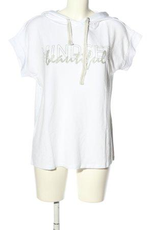Cartoon Bluza dresowa biały-srebrny Wydrukowane logo W stylu casual