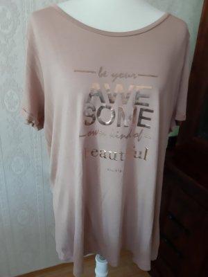 Cartoon T-shirt w kolorze różowego złota Wiskoza