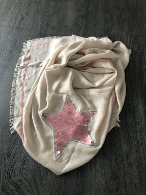 Cartoon Foulard blanc cassé-rose viscose