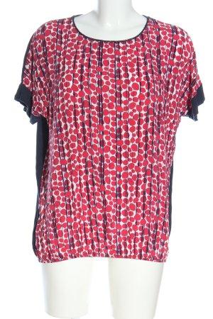 Cartoon Boatneck Shirt allover print casual look